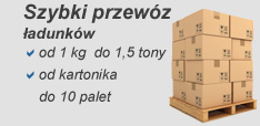 Ładunki od 1 kg do 1,5 tony